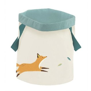 Moulin Roty Fox Round Cotton Canvas Storage by Moulin Roty (Voyage D'Olga Theme)