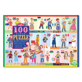 Eeboo Children of the World A to Z 100-Piece Puzzle by Eeboo