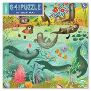 Eeboo Otters at Play 64-Piece Puzzle by Eeboo