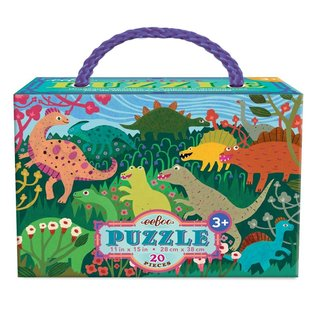 Eeboo Dinosaur Meadow 20-Piece Puzzle by Eeboo