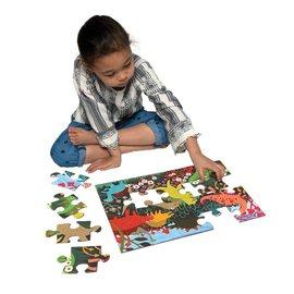 Eeboo Dinosaur Meadow 20-Piece Puzzle by Eeboo