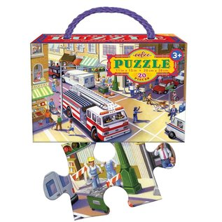 Eeboo Fire Truck 20-Piece Puzzle by Eeboo