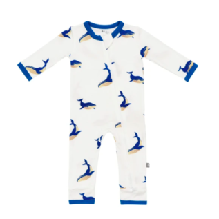 Kyte Baby Whale Print Zippered Bamboo Romper by Kyte Baby