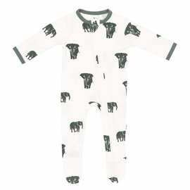 Kyte Baby Elephant Print Zippered Bamboo Footie by Kyte Baby