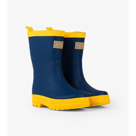Hatley Navy & Yellow Matte Rain Boots by Hatley