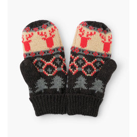 Hatley Fair Isle Stags Fleece Lined Mittens
