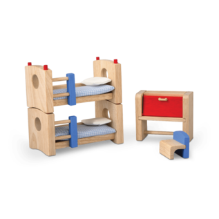 Plan Toys Children's Room Neo Dollhouse Furniture Set by Plan Toys