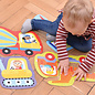 Banana Panda Construction Vehicles Toddler Puzzle Set (Ages 2+)