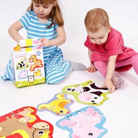 Banana Panda Farm Animals Toddler Puzzle Sets (Ages 2+)