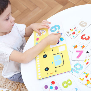 Banana Panda Kids Academy Numbers 2 Piece Puzzles & Colouring Books (Ages 2+)
