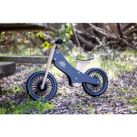Kinderfeets Black Classic Balance Bike by Kinderfeets