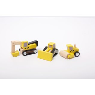 Plan Toys Road Construction Vehicle Set by Plan Toys