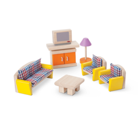 Plan Toys Living Room Neo Dollhouse Furniture Set by Plan Toys