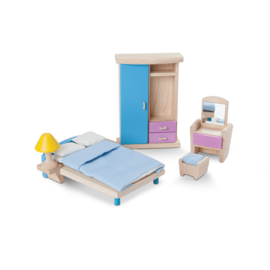Plan Toys Bedroom Neo Dollhouse Furniture Set by Plan Toys