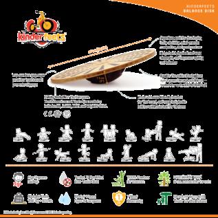 Kinderfeets Bamboo Balance Disk by Kinderfeets
