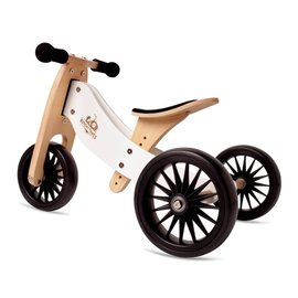 Kinderfeets White Tiny Tot PLUS Balance Bike by Kinderfeets