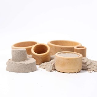 Grimms Natural Wooden Stacking & Nesting Bowls by Grimms