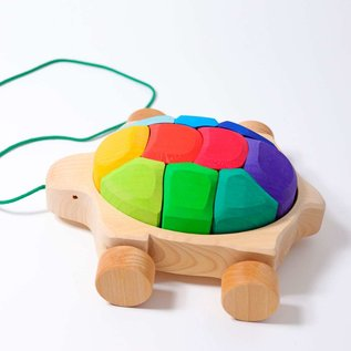 Grimms Rainbow Turtle Pull Along Truck by Grimms