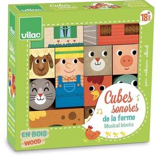 Vilac Musical Farm Blocks (18 Months+)