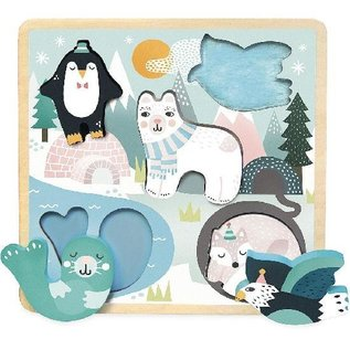 Vilac Arctic Theme Touch & Feel Wooden Puzzle