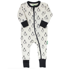Parade Penguin Print 2 Way Zip Organic Cotton Romper by Parade