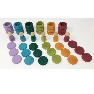 Grapat Wood Coloured Nins, Rings and Coins by Grapat (Non-Basic Colours)
