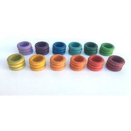 Grapat Wood Coloured Rings 36 Piece Set (12 Colours) by Grapat