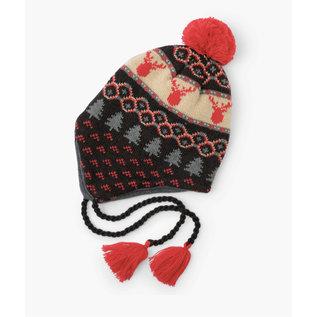 Hatley Fair Isle Stags Fleece Lined Trapper Winter Hat