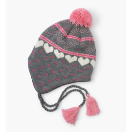 Hatley Hearts Fleece Lined Trapper Winter Hat