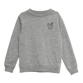 WHEAT KIDS Merino Wool/Organic Cotton Sweatshirt Grey (Wild Life) by Wheat