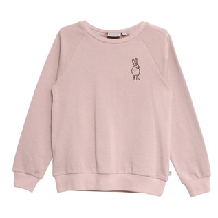WHEAT KIDS Merino Wool/Organic Cotton Sweatshirt Rose Powder Colour (Rabbit) by Wheat