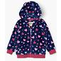 Hatley Confetti Hearts Fuzzy Fleece Zip Up Hoodie