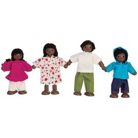 Plan Toys Doll Family (African American) by Plan Toys