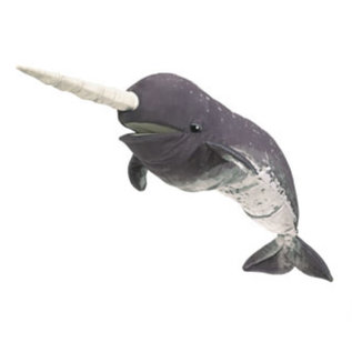 Folkmanis Puppets Narwhal Hand Puppet