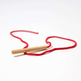 Grimms Wooden Threading Needle with String by Grimms