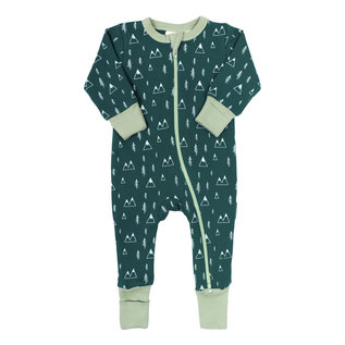 Parade Mountains Print 2 Way Zip Organic Cotton Romper by Parade