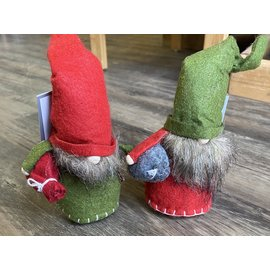 Silver Tree Felt Holiday Gnome with Beard