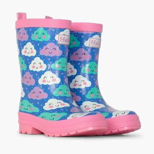 Hatley Cheerful Clouds Print Rain Boots by Hatley