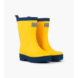 Hatley Yellow & Navy Matte Rain Boots by Hatley
