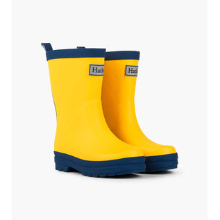Hatley Yellow & Navy Matte Rain Boots by Hatley