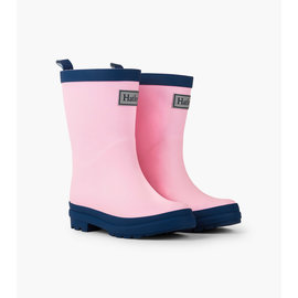 Hatley Pink & Navy Matte Rain Boots by Hatley
