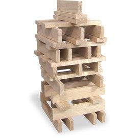 Vilac 100 Piece Set of Wooden Building Blocks - Made in France