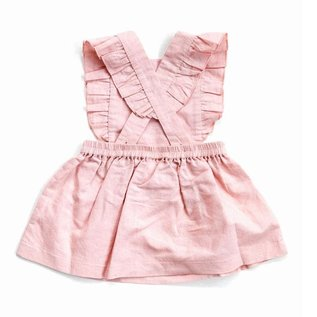 Beba Bean Pink Linen Pinafore by Beba Bean