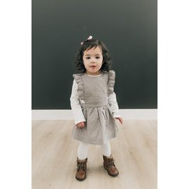 Beba Bean Grey Linen Pinafore by Beba Bean