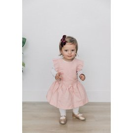 Beba Bean Pink Linen Pinafore by Beba Bean