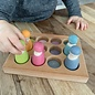 Grimms Wooden Pastel Sorting Board by Grimms