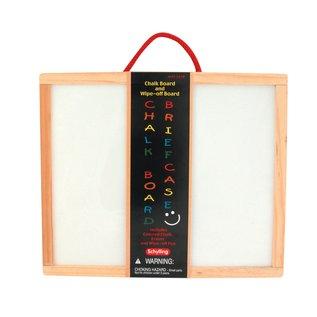 Schylling Chalk Board & Wipe-Off Wooden Briefcase