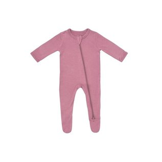 Kyte Baby Mulberry Colour Zippered Bamboo Footie by Kyte Baby