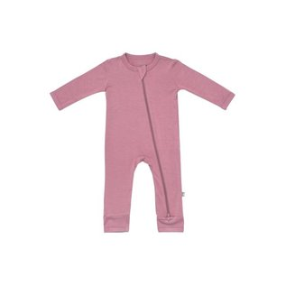 Kyte Baby Mulberry Colour Zippered Bamboo Romper by Kyte Baby