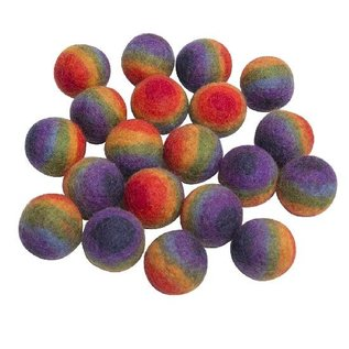 Papoose Rainbow Wool Felt Balls 3.5cm (20-Pack)